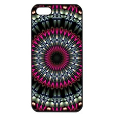 Circles Background Lines  Apple Iphone 5 Seamless Case (black) by amphoto