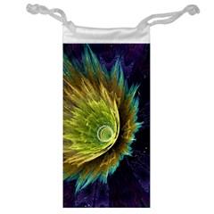 Flower Line Smoke  Jewelry Bag by amphoto