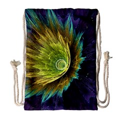 Flower Line Smoke  Drawstring Bag (large) by amphoto
