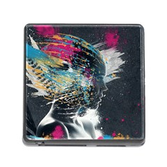 Face Paint Explosion 3840x2400 Memory Card Reader (square) by amphoto