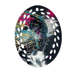 Face Paint Explosion 3840x2400 Oval Filigree Ornament (two Sides) by amphoto