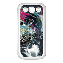 Face Paint Explosion 3840x2400 Samsung Galaxy S3 Back Case (white) by amphoto