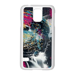 Face Paint Explosion 3840x2400 Samsung Galaxy S5 Case (white) by amphoto
