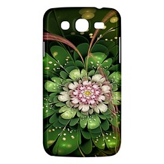 Fractal Flower Petals Green  Samsung Galaxy Mega 5 8 I9152 Hardshell Case  by amphoto
