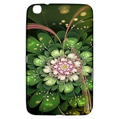 Fractal Flower Petals Green  Samsung Galaxy Tab 3 (8 ) T3100 Hardshell Case  by amphoto
