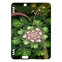 Fractal Flower Petals Green  Kindle Fire Hdx Hardshell Case by amphoto