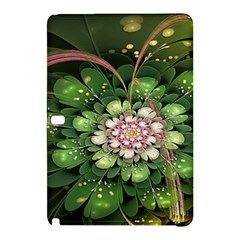 Fractal Flower Petals Green  Samsung Galaxy Tab Pro 10 1 Hardshell Case by amphoto