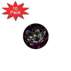 Flower Burst Background  1  Mini Buttons (10 Pack)  by amphoto
