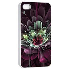 Flower Burst Background  Apple Iphone 4/4s Seamless Case (white) by amphoto