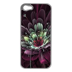 Flower Burst Background  Apple Iphone 5 Case (silver) by amphoto