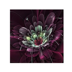 Flower Burst Background  Small Satin Scarf (square)  by amphoto