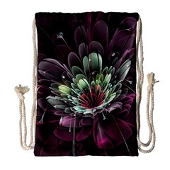 Flower Burst Background  Drawstring Bag (large) by amphoto