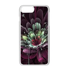 Flower Burst Background  Apple Iphone 7 Plus White Seamless Case by amphoto