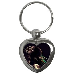 Face Shadow Profile Key Chains (heart)  by amphoto