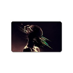 Face Shadow Profile Magnet (name Card) by amphoto
