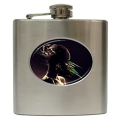 Face Shadow Profile Hip Flask (6 Oz) by amphoto