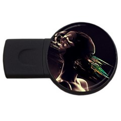 Face Shadow Profile Usb Flash Drive Round (2 Gb) by amphoto