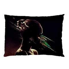 Face Shadow Profile Pillow Case (two Sides) by amphoto