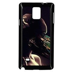 Face Shadow Profile Samsung Galaxy Note 4 Case (black) by amphoto