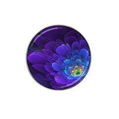 Purple Flower Fractal  Hat Clip Ball Marker (10 Pack) by amphoto