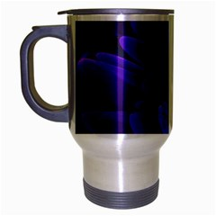 Purple Flower Fractal  Travel Mug (silver Gray) by amphoto