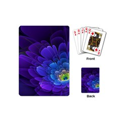 Purple Flower Fractal  Playing Cards (mini)  by amphoto