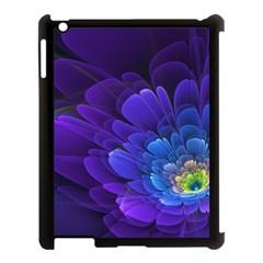 Purple Flower Fractal  Apple Ipad 3/4 Case (black) by amphoto