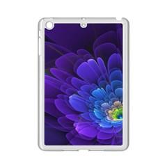 Purple Flower Fractal  Ipad Mini 2 Enamel Coated Cases by amphoto