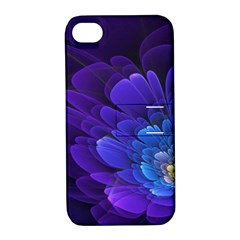 Purple Flower Fractal  Apple Iphone 4/4s Hardshell Case With Stand by amphoto