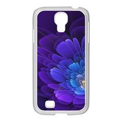 Purple Flower Fractal  Samsung Galaxy S4 I9500/ I9505 Case (white) by amphoto