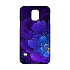 Purple Flower Fractal  Samsung Galaxy S5 Hardshell Case  by amphoto