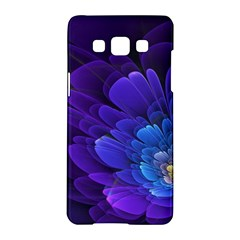 Purple Flower Fractal  Samsung Galaxy A5 Hardshell Case  by amphoto