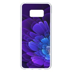 Purple Flower Fractal  Samsung Galaxy S8 Plus White Seamless Case by amphoto