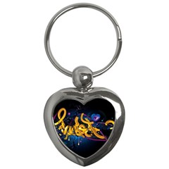 Sign Paint Bright  Key Chains (heart)  by amphoto
