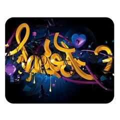 Sign Paint Bright  Double Sided Flano Blanket (large)  by amphoto