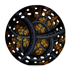 Circles Background Spots  Ornament (round Filigree) by amphoto