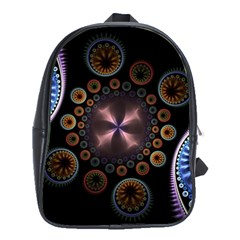 Circles Colorful Patterns  School Bag (xl) by amphoto