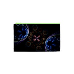 Circles Colorful Patterns  Cosmetic Bag (xs) by amphoto