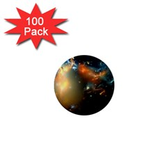 Explosion Sky Spots  1  Mini Buttons (100 Pack)  by amphoto
