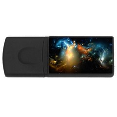 Explosion Sky Spots  Rectangular Usb Flash Drive by amphoto