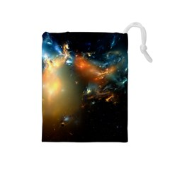 Explosion Sky Spots  Drawstring Pouches (medium)  by amphoto
