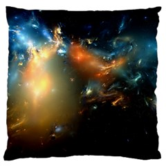 Explosion Sky Spots  Large Flano Cushion Case (two Sides) by amphoto