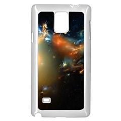 Explosion Sky Spots  Samsung Galaxy Note 4 Case (white) by amphoto