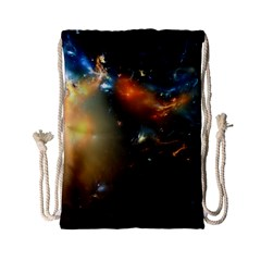 Explosion Sky Spots  Drawstring Bag (small) by amphoto