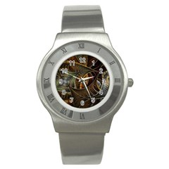 Mosaics Stained Glass Colorful  Stainless Steel Watch by amphoto