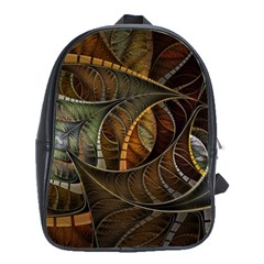 Mosaics Stained Glass Colorful  School Bag (large) by amphoto