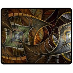 Mosaics Stained Glass Colorful  Fleece Blanket (medium)  by amphoto