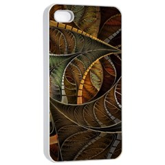 Mosaics Stained Glass Colorful  Apple Iphone 4/4s Seamless Case (white) by amphoto