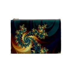 Patterns Paint Ice  Cosmetic Bag (medium)  by amphoto