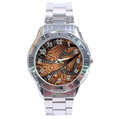 Patterns Background Dark  Stainless Steel Analogue Watch by amphoto
